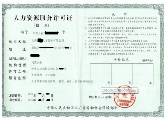 注册人力资源公司